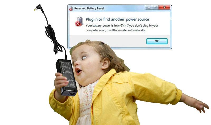 Ползване на лаптопа на батерия