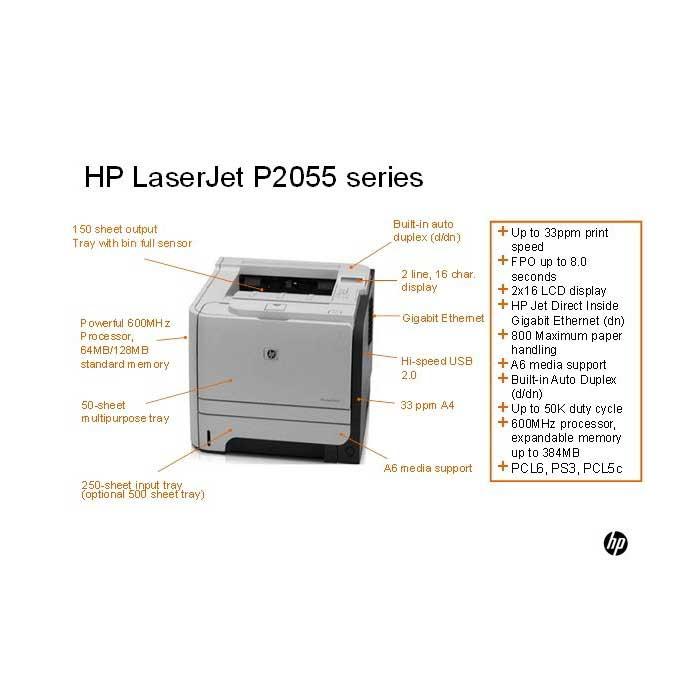 втора употреба принтер hp-lj-p2055dn